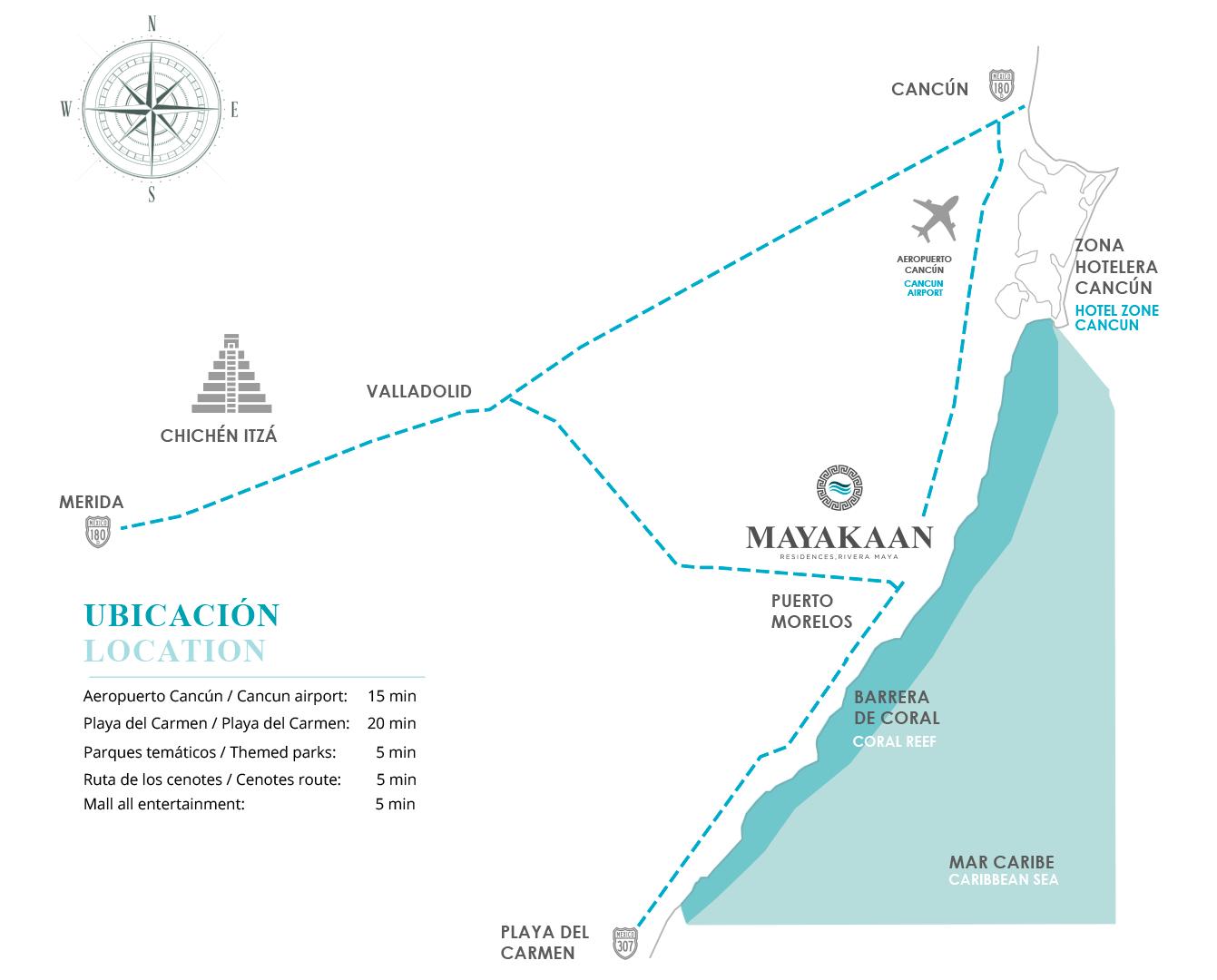 Mapa de Mayakaan